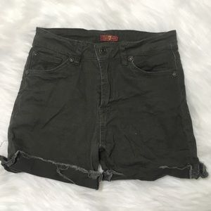 Kids size 12 7 for all mankind deep green shorts